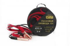 Крокодилы+провода для прикуривания АКБ (400А) СИЛА (900306) 3м/в сумке