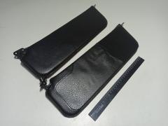 Козырьки ВАЗ 2106 (черные) мягкие/перфарированные пара