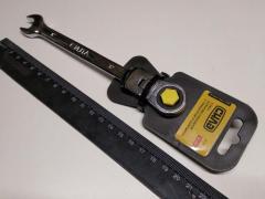 Ключ рожково-накидной 12 мм СИЛА (202116) CrV/с трещеткой и шарниром