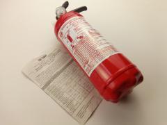 Огнетушитель порошковый ОП-1, с манометром