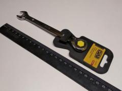 Ключ рожково-накидной 12 мм СИЛА (202016) CrV/с трещеткой
