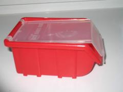 Box plastic for fixture with a cover, boxing for