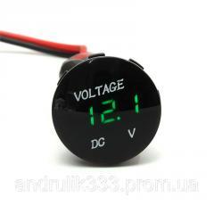 Вольтметр 5-48V водонепроницаемый выпуклый...