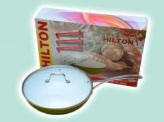 WOK frying pan with a cover ceramics