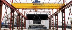 Pavement crane two-frame