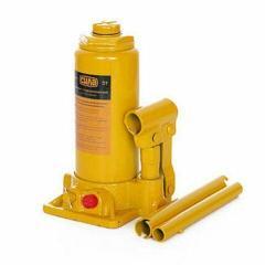 Домкрат (гидравл.) бутыл. типа 5 т. (в пластивовый чемодан), СИЛА (271025) подъем 200-405 мм