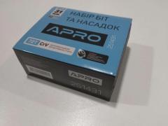 Набор инструментов APRO (251431) 72Т/трещетка ¼ + 31 насадка
