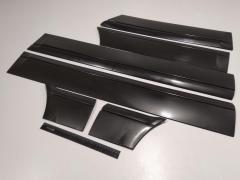 Молдинг дверей ВАЗ 2114, Кампласт пластик/широкий/старый образец/к-кт 6 шт.