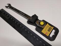 Ключ рожково-накидной 10 мм СИЛА (202014) CrV/с трещеткой