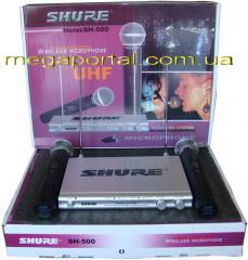 Shure SH-500 radio system 2 of the Shure SM58