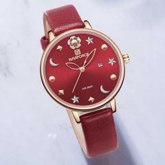 Часы наручные женские красные водостойкие