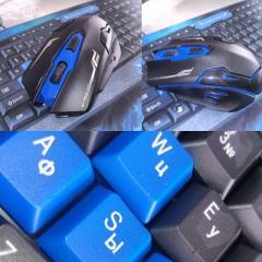 Беспроводная клавиатура с подсветкой и мышкой