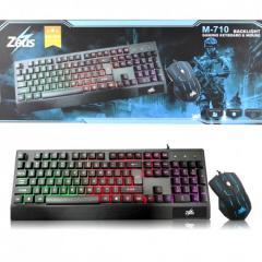 Проводная клавиатура игровая с подсветкой с мышкой