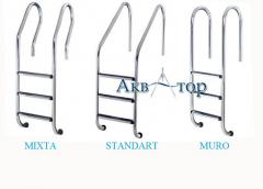 Ladders for pools, a corrosion-proof ladder.