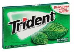 Жевательная резинка Trident Spearmint Классическая мята 14 шт