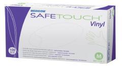 Gloves are vinyl. Vinyl SafeTouch® Vinyl gloves