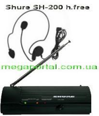 Shure SH-200 h-free head font black Shure SM58