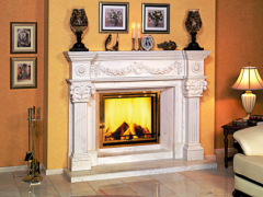 Marble products: fireplaces, table-tops, window