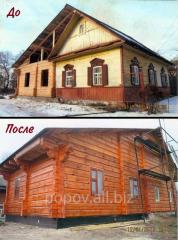 Дом с имитации бруса
