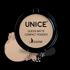 Матирующая компактная пудра Unice Divine бежевый QMP03, 11.5 г