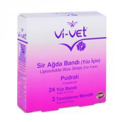 Набор восковых полосок Unice Vi-Vet для депиляции лица с тальком , 27 шт