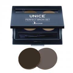 Набор для макияжа бровей Unice Divine PBS темно