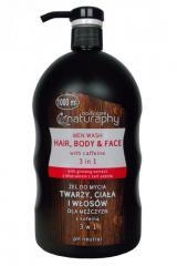 Гель-шампунь Unice Naturaphy для лица, тела и волос с кофеином для мужчин , 1000 мл
