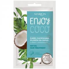 Горячее масло для ухода за сухими и поврежденными волосами Marion Enjoy Coco, 20 мл