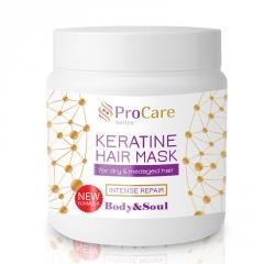 Маска для роста волос Unice PRO Care Профессиональный Уход с Кератином, 500 мл
