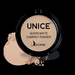 Матирующая компактная пудра Unice Divine бежевый светлый QMP01, 11.5 г