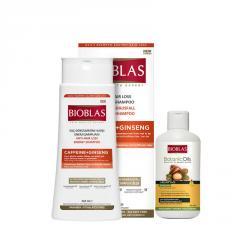 Шампунь против выпадения волос Unice Bioblas с кофеином, Набор 360+150 мл