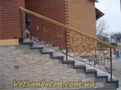 Production of a handrail