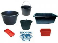 Buckets, basins, trays from WAVE - ISO 9001