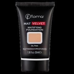 Матирующая тональная основа Flormar MAT VELVET V208 Honey Beige, 35 мл