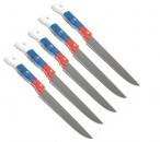 Нож кухонный №7, син-кр-бел ручка, лезвие 7см,