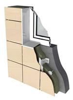 Subdesign for a keramogranitny facade