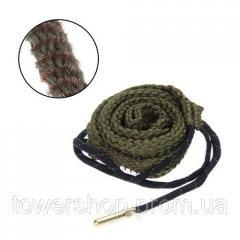 Протяжка шнур змейка для чистки ствола оружия 38,