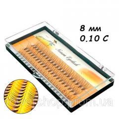 Ресницы пучковые накладные 8мм 0.10 С шелковые