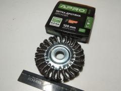 Щётка зачистная 125 мм APRO (830431) круг/стальные
