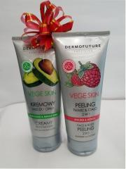 Кремовый мусс Dermo Future Vege Skin для тела с авокадо + Увлажняющий фруктовый пилинг Dermo Future Raspberry