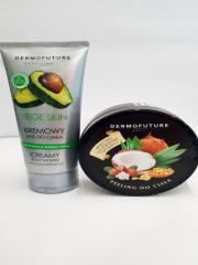 Кремовый мусс Dermo Future Vege Skin для тела с авокадо + Сахарный скраб Dermo Future Peeling do Ciala