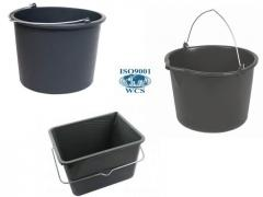 Buckets construction with a measured scale from