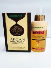 Масло для волос BEBAK с маслом арганы + Двухфазный кондиционер для волос BEBAK Арган-кератин