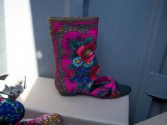 Summer boots in the Nested doll style Love