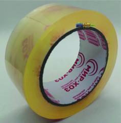 Скотч упаковочный прозрачный - 50 микрон × 200 м