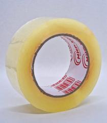 Скотч ПЛОТНЫЙ упаковочный прозрачный - 45 мм × 500 м (заказ кратно 6шт)