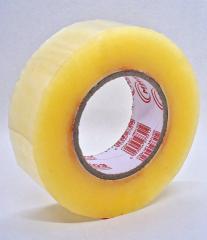 Скотч ПЛОТНЫЙ упаковочный прозрачный - 45 мм × 1000 м (заказ кратно 6шт)