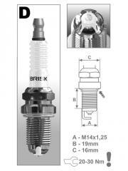 Свечи зажигания Brisk A-Line 28 (DR15YCY) KIA,