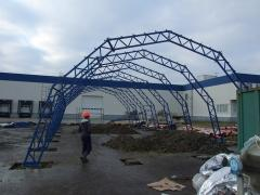 Construction of arch hangars