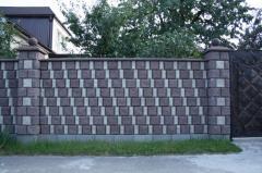 Заборные блоки  половинка, четверть